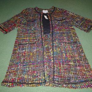 Anthropologie 3/4 Sleeve MultiColor Coat